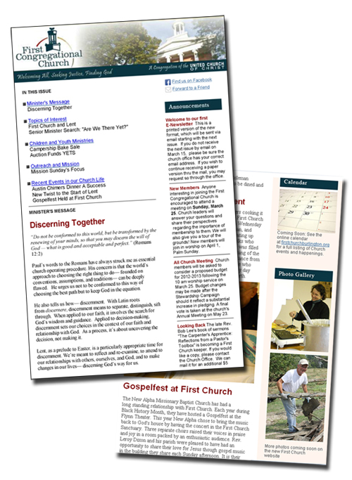 Christian Newsletters  Church Newsletters  Vermont Church